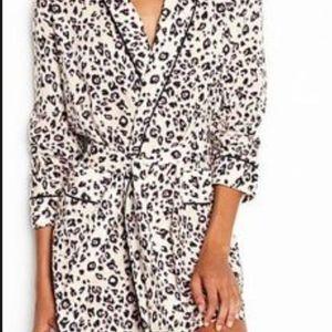 new cotton pockets victorias secret leopard robe